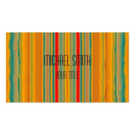 Acrylic Rainbow Abstract Business Card