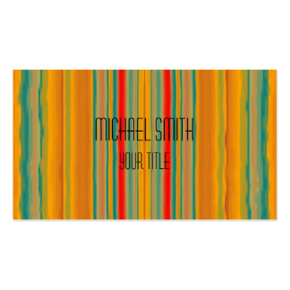Acrylic Rainbow Abstract Pack Of Standard Business Cards