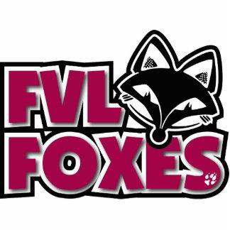 Acrylic Sculpture FVL Foxes Photo Cut Out
