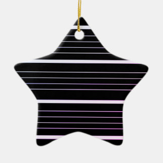 Acrylic star with black stripes ceramic star decoration