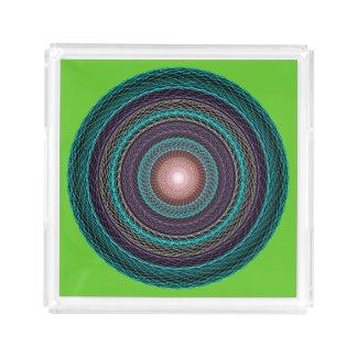 Acrylic tray with Mandala diagram