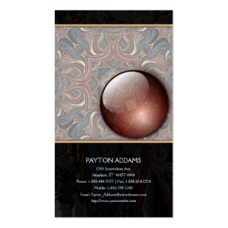 Acrylic Vision Abstract - Vertical Business Card