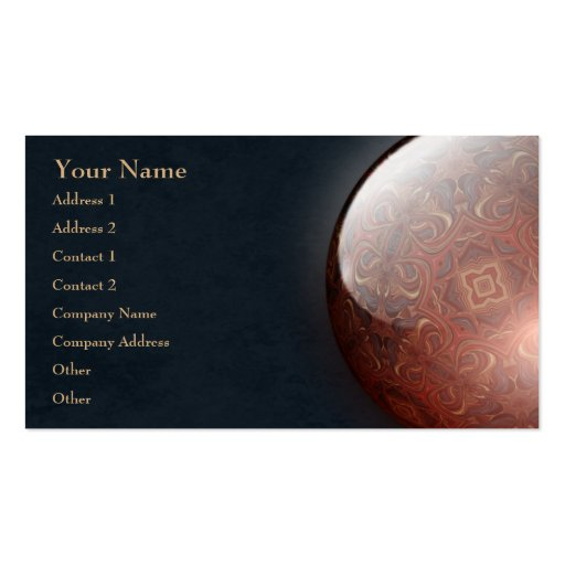 Acrylic Vision Jewel Business Card