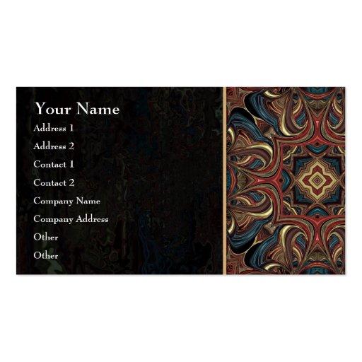 Acrylic Vision Mandala Business Card