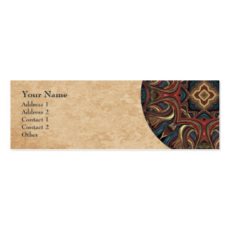 Acrylic Vision Mandala Profile Business Card