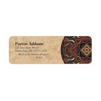 Acrylic Vision Mandala Return Address Avery Label Return Address Label