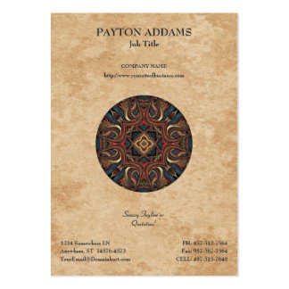 Acrylic Vision Mandala - Vertical Business Card