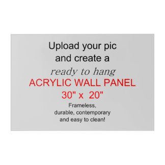 Acrylic Wall Art 30 x 20 - Add pics and text!