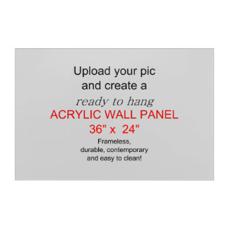 Acrylic Wall Art 36 x 24 - Add pics and text!