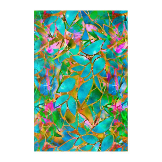 Acrylic Wall Art Floral Abstract Stained Glass