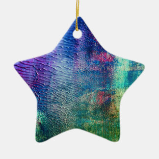 Acrylic with moon surface ceramic star decoration