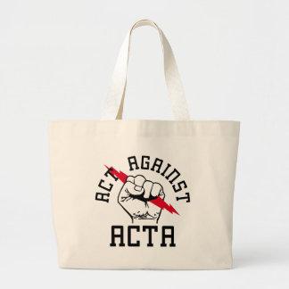 Act against ACTA Jumbo Tote Bag
