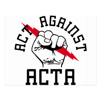 Act against ACTA Postcards