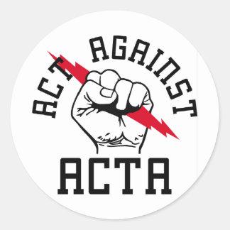Act against ACTA Round Sticker