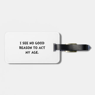 Act Age Luggage Tag