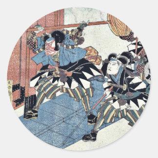 Act eleven of the Chushingura by Utagawa Kuniyasu Sticker