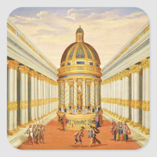 Act I, scenes VII and VIII: Baccus' Temple Square Sticker