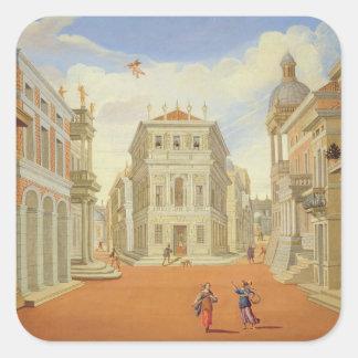Act II, scenes I and VIII Square Sticker