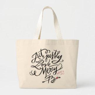 Act Justly. Love Mercy. / Abort73.com Jumbo Tote Bag