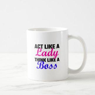 Act Like A Lady Think Like A Boss Basic White Mug