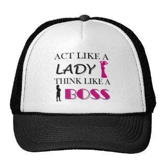 Act Like A Lady Think Like A BOSS Cap
