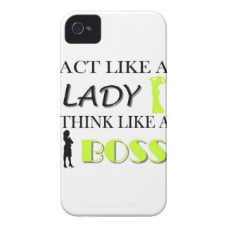 Act Like A Lady Think Like A BOSS Case-Mate iPhone 4 Cases