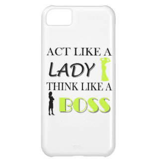 Act Like A Lady Think Like A BOSS iPhone 5C Case