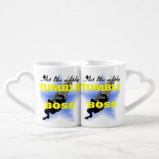 Act like a lady tumbling lovers mug set