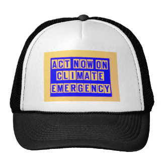 Act now on climate emergency t shirt mesh hats