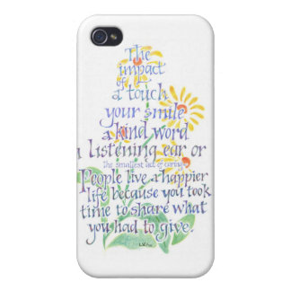 Act of Caring iPhone Case Case For The iPhone 4