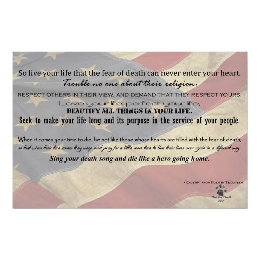 Act of Valour Poem - Poem by Tecumseh Poster
