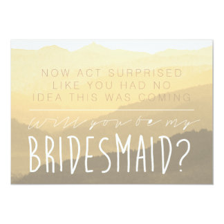 Act Surprise | Be My Bridesmaid Card