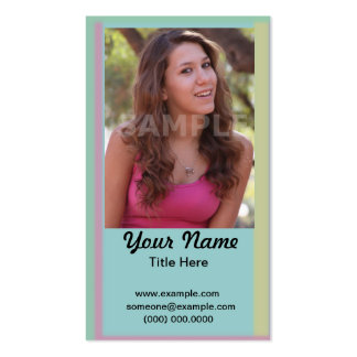 Acting Headshot Business Card