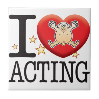 Acting Love Man Small Square Tile
