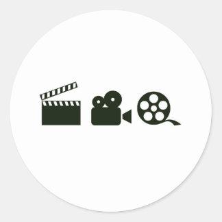action camera film.jpg round sticker