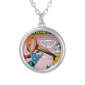 Action Comics #241 Silver Plated Necklace