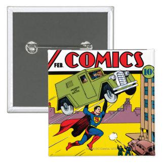 Action Comics #33 15 Cm Square Badge
