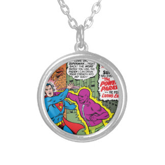 Action Comics #340 Silver Plated Necklace