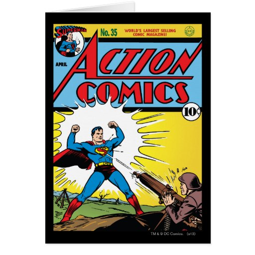 Action Comics #35 Greeting Card