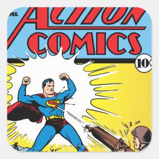 Action Comics 35 Square Stickers