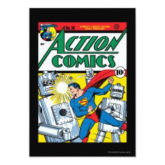 Action Comics #36 13 Cm X 18 Cm Invitation Card