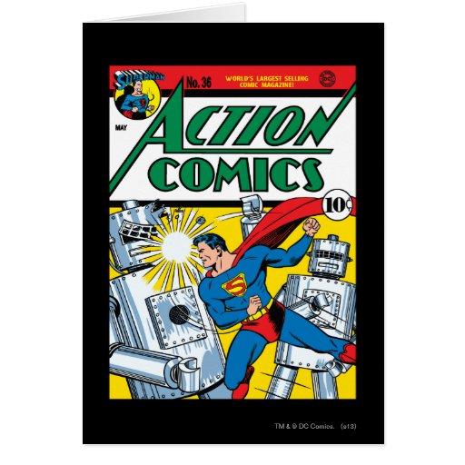 Action Comics #36 Greeting Card
