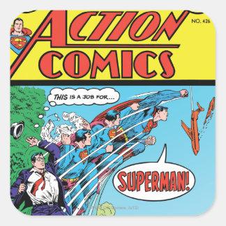 Action Comics 426 Square Stickers