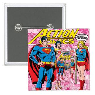 Action Comics #500 Oct 1979 15 Cm Square Badge