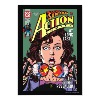 Action Comics #662 Feb 91 13 Cm X 18 Cm Invitation Card
