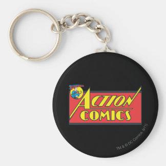 Action Comics - Superman Basic Round Button Key Ring