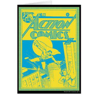 Action Comics Superman saves Greeting Card