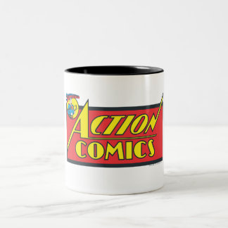 Action Comics - Superman Two-Tone Coffee Mug