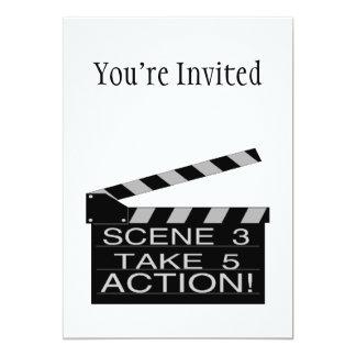 Action Directors Clapboard 13 Cm X 18 Cm Invitation Card