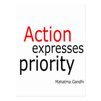 Action expresses priority postcard